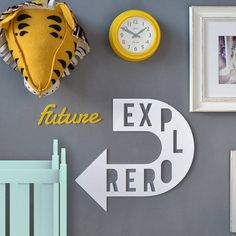 A stunningly original piece of personalised word art, perfect for decorating a littles one space.  Displaying two personalised distinct words
