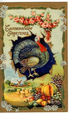 vintage thanksgiving images | Vintage Thanksgiving Postcard
