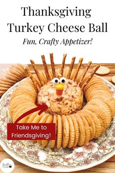The cutest Thanksgiving Appetizer in less than 5 minutes! A Turkey Cheese Ball is the perfect activity to do with your kids, or simply get creative for your next Friendsgiving. #thanksgiving #thanksgivingappetizers #appetizers #cheeseball #thanksgivingrecipe Thanksgiving Leftover Recipes, Thanksgiving Appetizers, Holiday Appetizers, Thanksgiving Turkey, Holiday Recipes, Thanksgiving Dinners, Christmas Recipes, Potluck Recipes, Party Recipes