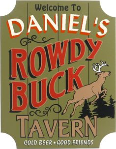 Northwest Gifts - Rowdy Buck Tavern Custom Hunting Plaque