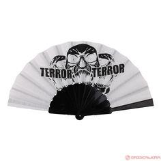 Terror Fan Lightning Skull (White/Black) | 840-W03-100