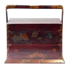 Traditional antiques asian rectangular wedding basket son respect