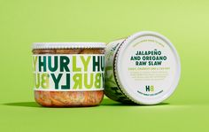 Hurly Burly / Design / Packaging / Jar / Label / Bold / Typography / Fermentation / Turbulent / Continuous / Logo