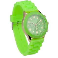 Men's/Women's Unisex Analog Quartz Wrist Watch with Silicone Band Light Green