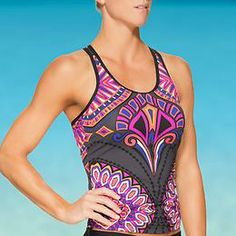 Rapanui Ready To Run Tankini - Your tri suit takes on a little tribal island energy with this super-performance suit with a high-impact style.