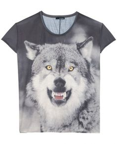 The Kooples T-shirt 'Wolf' - T-shirt - Femme on We Heart It Wolf T Shirt, Zadig And Voltaire, Bold Fashion, Classy And Fabulous, Cute Guys, Graphic Tees, Tee Shirts, Thing 1, My Style