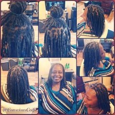 Style: Loc Retight (interlocks)  Client's Hair Type: 3c  Hair Added: NA  Products Used: Coiled! by Conscious Coils (Original Refresher Spray)   Time: 2hrs Style Duration: Retight every 5-8weeks