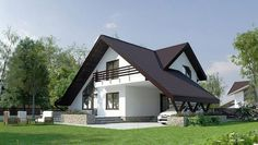 Proiecte de case pentru o familie cu patru membri Best house plans for a family of four romanian rural house inspired by the old design. Modern Bungalow Exterior, Dream House Exterior, Tiny House Design, Modern House Design, Three Bedroom House Plan, Architect House, Modern House Plans, Facade House, Architecture Design