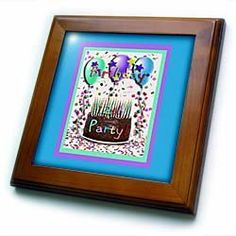 """12th Birthday Party Invitation Chocolate Cake - 8x8 Framed Tile by Beverly Turner Photography. $22.99. Keyhole in the back of frame allows for easy hanging.. Cherry Finish. Inset high gloss 6"""" x 6"""" ceramic tile.. Dimensions: 8"""" H x 8"""" W x 1/2"""" D. Solid wood frame. 12th Birthday Party Invitation Chocolate Cake Framed Tile is 8"""" x 8"""" with a 6"""" x 6"""" high gloss inset ceramic tile, surrounded by a solid wood frame with predrilled keyhole for easy wall mounting.. Save 15%!"""