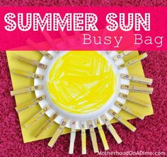 Summer Sun Busy Bag (Alphabet and Number Practice)
