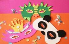 Lavoretti di Carnevale per la scuola dell'infanzia - Maschere di cartoncino