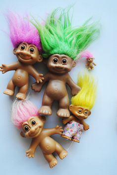 When I was in preschool, my teacher has a treasure chest and if we were good for a day or we could pick out a toy, and I remember to this day I got that miniature pink haired troll.