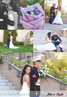 Marine Wedding, Marine themed wedding ideas, Marine Wedding Photography, Marine & Bride photography, Wedding Photography ideas, Wedding Photography Poses, J.Michelle Photography