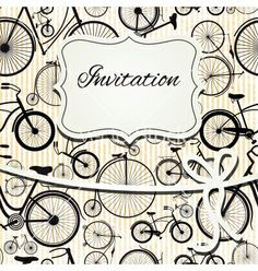 Hipster invitation card in vintage style vector - by teirin on VectorStock®