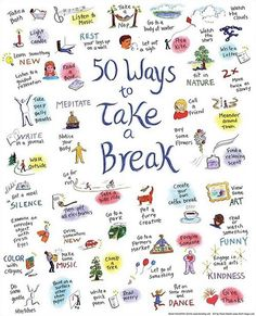 50 ways to take a break.
