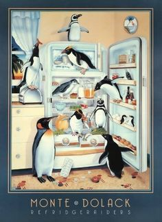 The Refridgeraiders Birthday Card Penguin World, Penguin Life, Science Penguin, Penguin Art, Kinds Of Penguins, Cute Penguins, Penguin Pictures, Blue Footed Booby, Bottlenose Dolphin