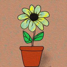 Flower Vases, Flowers, Enamel, Illustration, Vitreous Enamel, Vase, Enamels, Illustrations, Royal Icing Flowers