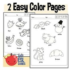 2 Easy Coloring pages to Practice Colors #coloring #preschool