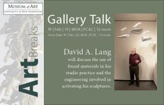 ArtBreak Gallery talk:  David A. Lang Wed. Feb 19th  Noon-1pm Museum of Art,UNH