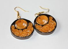 kalanirmitee: quilling-quilled earrings