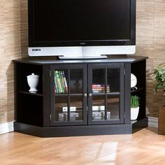 "Thomas 42"" Corner Tv Stand (black)"
