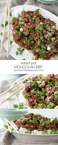 Instant Pot Mongolian Beef is quicker and better than the traditional take out version.  Make it at home better! #instantpotmongolianbeef #mongolianbeef #beefrecipes #instantpotbeef #instantpotrecipes #instantpotbeefrecipes