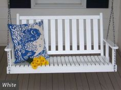 Get into the swing of things with the Asheboro 4 Foot Porch Swing by Dixie Seating Co. Emphasizing vertical lines along the back and seat, this swing reflects a mission-style design seen in many Arts