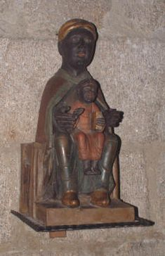 Black Madonna at Meymac in the Correze department, France.