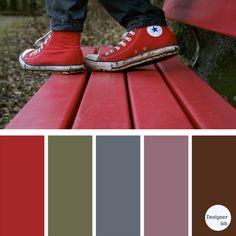 for real living Red Color Schemes, Color Trends, Color Combos, Blue Paint Colors, Red Colour, Colour Pallette, Color Psychology, Color Balance, Design Seeds