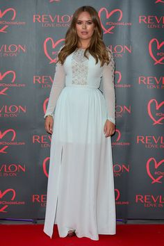 Tanya Burr Beaded Dress - Tanya Burr looked angelic at the Revlon Choose Love Masquerade Ball in a pale-blue Temperley London gown with a beaded bodice and sleeves.