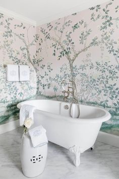 How This Dark Tudor Home Became a Light, Bright, Grandmillennial Dream Art Deco Bathroom, Bathroom Ideas, Master Bathroom, Relax, Tudor House, Pretty Room, Bedroom Photos, Daughters Room, Beige Walls