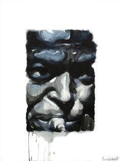 Miles Davis 2 - Inchiostro su carta 56x76 cm