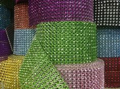 5 Yard of Mesh Simulated  Diamond Rhinestone Ribbon Trimming Wrap Roll Craft Hobby Wedding Baby Shower You Pick Color on Etsy, $9.99