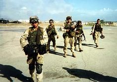 Battle of Mogadishu Rangers | soldiers return to their base after a mission in Somalia in 1993 ...
