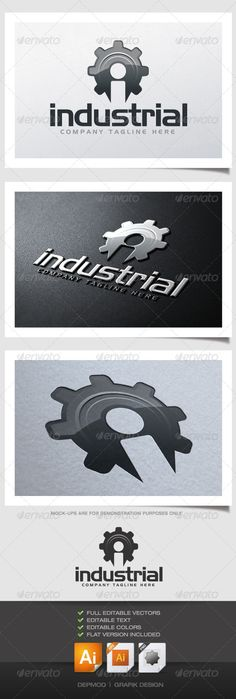 Industrial - Logo Design Template Vector #logotype Download it here: http://graphicriver.net/item/industrial-logo/4549383?s_rank=650?ref=nexion