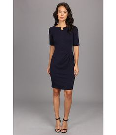Nice casual dress that can be worn for daily office work. London Times Elbow Sleeve Texture Knit Dress