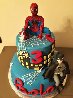 Spiderman and Batman - Cake by Le Pam Delizie