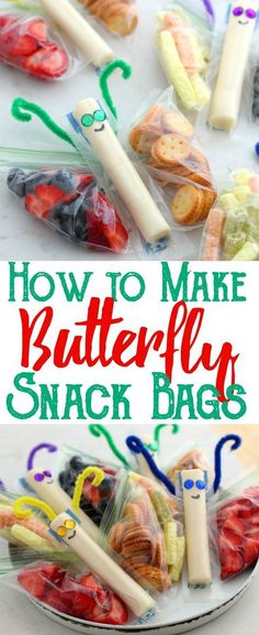 HOW TO MAKE BUTTERFLY SNACK BAGS | Amanda Food