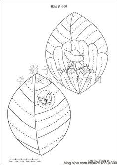 나뭇잎 동전지갑 패턴 : 네이버 블로그 Bag Patterns To Sew, Hand Embroidery Patterns, Applique Patterns, Applique Quilts, Embroidery Applique, Cross Stitch Embroidery, Quilt Patterns, Quilting Templates, Applique Templates