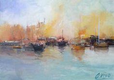 "Saatchi Art Artist Andres Vivo; Painting, ""3899  Góndola a la mar"" #art"
