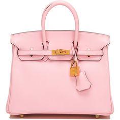 Pre-Owned Hermes Rose Sakura Swift Birkin 25cm Gold Hardware (65.055 BRL) ❤ liked on Polyvore featuring bags, handbags, pink, pink handbags, genuine leather handbags, hermes handbags, pink leather handbags and multi colored leather handbags