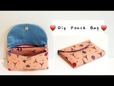 Diy pouch bag with zipper & layer Cosmetic Bag Tutorial, Handbag Tutorial, Diy Pouch Bag, Hobo Bag Tutorials, Fabric Wallet, Techniques Couture, Embroidered Bag, Bag Patterns To Sew, Simple Bags