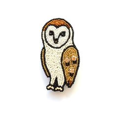 BROOCH   ACCESSORIES   GALLERY   maison des perles メゾン・デ・ ペルル Beaded Embroidery, Embroidery Fashion, Baby Owls, Owl Babies, Creation Myth, Patch Design, Gold Work, Beaded Brooch, Animals
