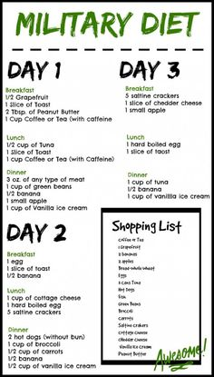 It only takes three days on this Military Diet – # Solo lleva tres días en esta dieta militar – # Diet Plans To Lose Weight, How To Lose Weight Fast, Losing Weight, Weight Gain, Loose Weight, Lose Fat, Fastest Way To Lose Weight In A Week, Fast Weight Loss Diet, Body Weight