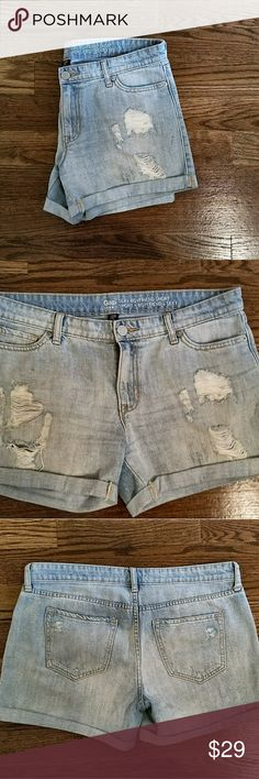 GAP Sexy Boyfriend Jean Shorts Size 29/8 sexy boyfriend Jean shorts. Gently worn and in great condition. They run a bit big which is why I'm selling. GAP Shorts Jean Shorts