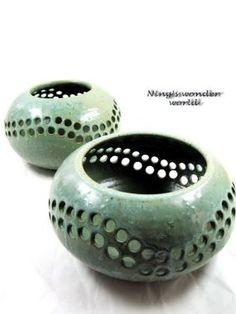 Wheel-thrown pottery, candle holder, vase set.