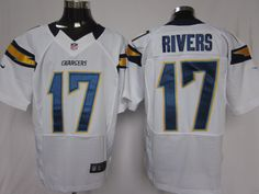 Mens Nike NFL San Diego Chargers #17 Philip Rivers White Elite Jerseys