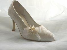 Cade - Vintage Style Lace Bridal Shoe - $129.98