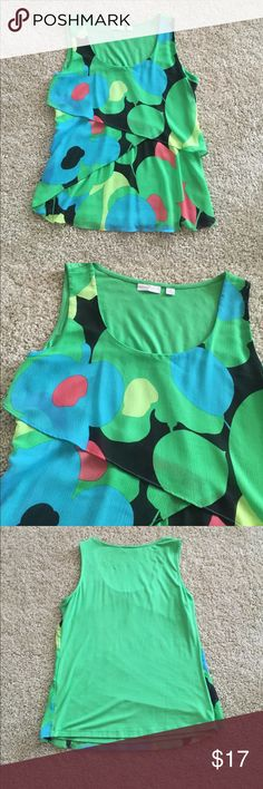 Colorful work tank top Layered tank top, perfect for work! New York & Company Tops Tank Tops