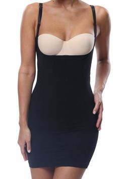 100054733d0c9 Belugue Womens Seamless Shapewear Underbust Full Control Slip Dress Black L      Details can be found by clicking on the image.